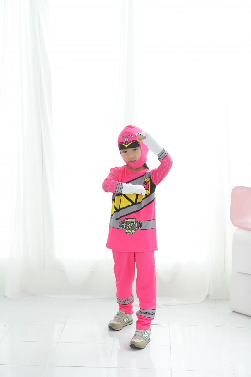 파워레인저 다이노포스 상하복 실속형 핑크