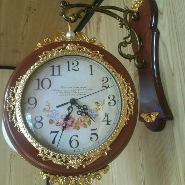 visual양면시계/엔틱무소음시계