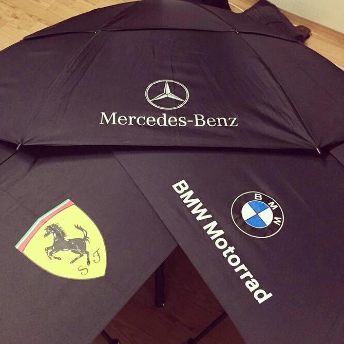 샘플낱개가능,대량가능 벤츠, BMW, 페라리 프리미엄 자동 2중덮개 파라솔 우산