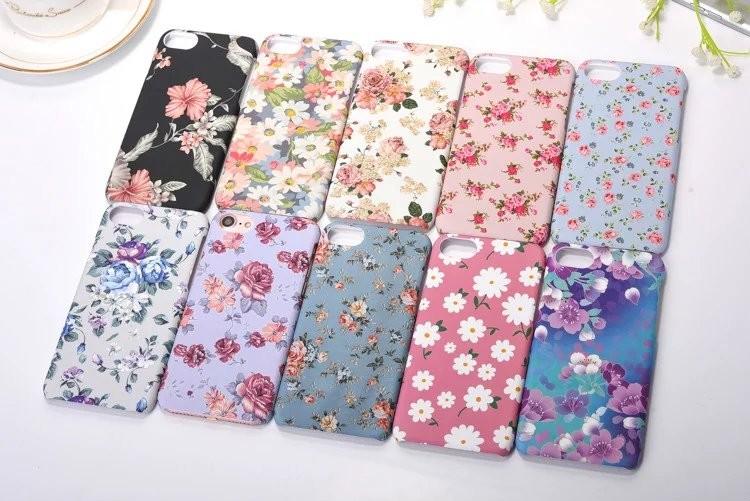 꽃무늬 전사 휴대폰케이스입니다