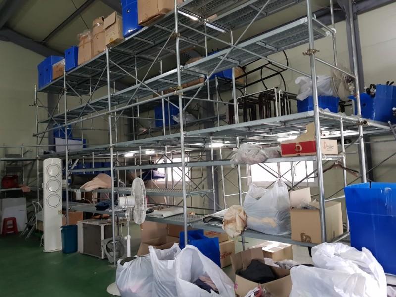 창고에 설치된 아시바 판매합니다.