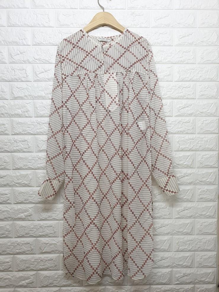 a1618 패턴 롱블라우스