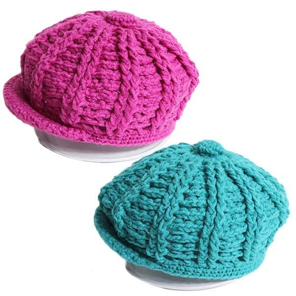 (도매야)유아동 뜨개 챙모자