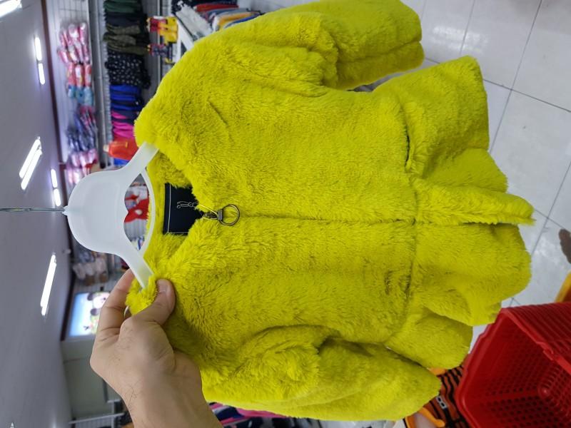 유아동 F/W 퍼 코트 블랙,옐로우 완사판매 땡처리