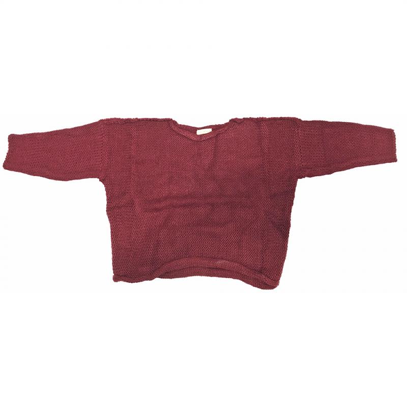 국산 아동 와인색 스웨터