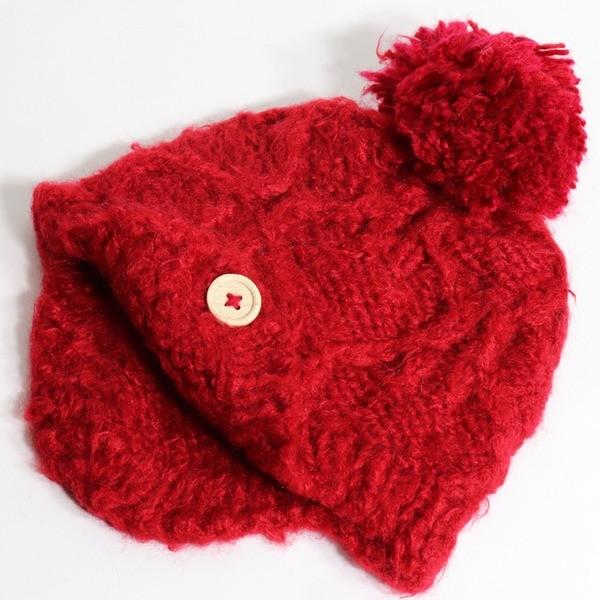 (도매야)유아동 뜨개 방울 귀달이 모자