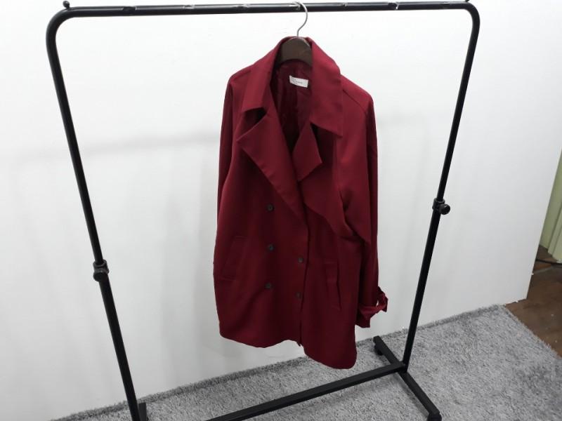 [재고맨] - 완사입/파샬(여성) - 와인 트렌치 코트 / 총 5장 / 완사단가 6000원