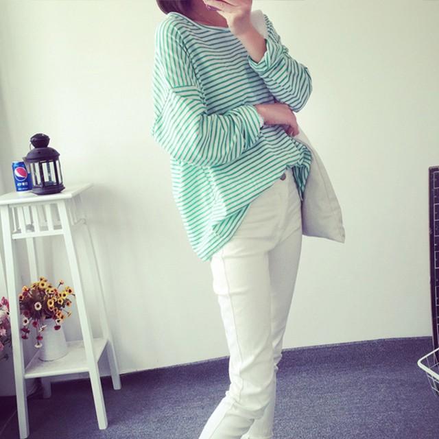 (가을옷 원가처분) 프리사이즈 스판줄무늬 T-셔츠