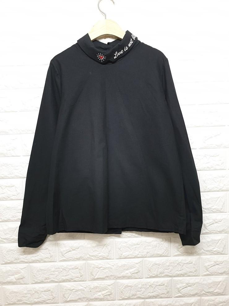 a1525 자수카라 셔츠
