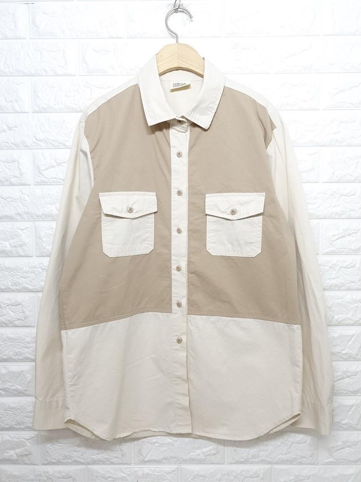 a1646 배색 포켓 셔츠