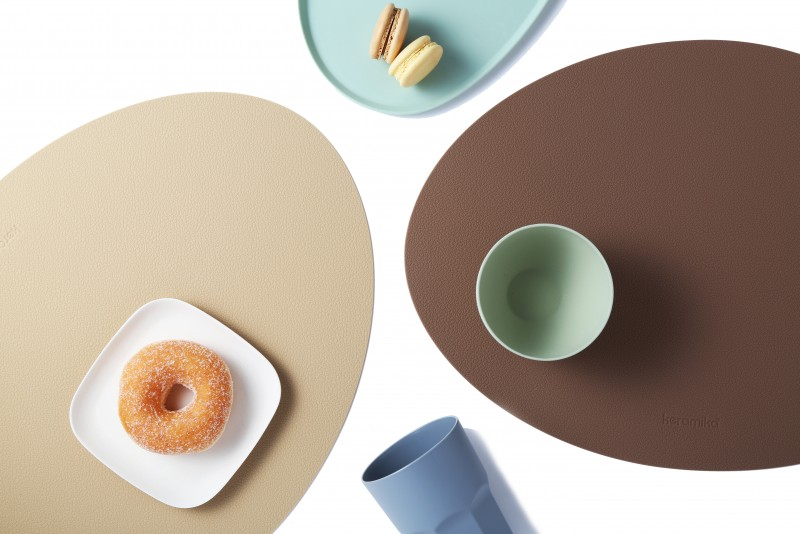 케라미카 실리콘 식탁매트 타원형