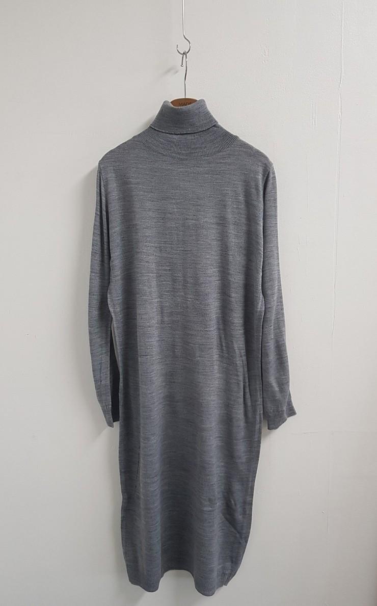 [완사입/파샬] 롱 니트 목폴라 티셔츠 - 14장 4000원