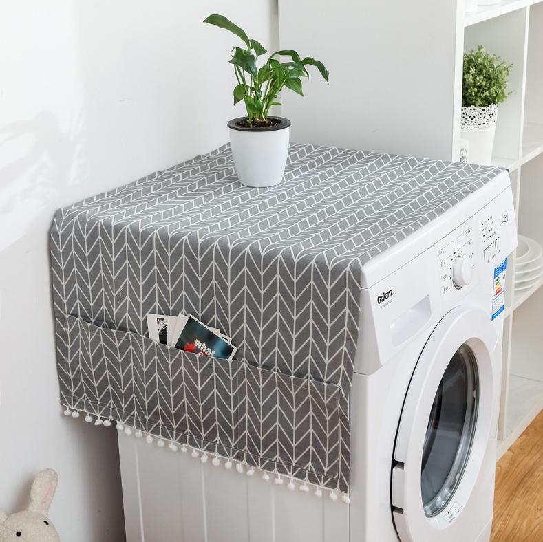 그레이 패턴 세탁기커버 건조기덮개