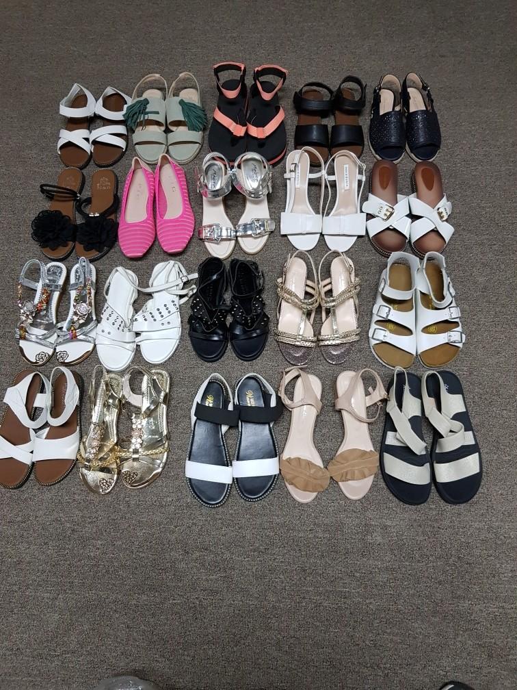 여름 신발 잡탕 230족 떙칩니다