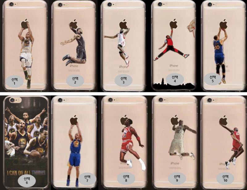 공장직배송 농구시리즈 유브이2도인쇄 투명젤리 핸드폰케이스 제품10219
