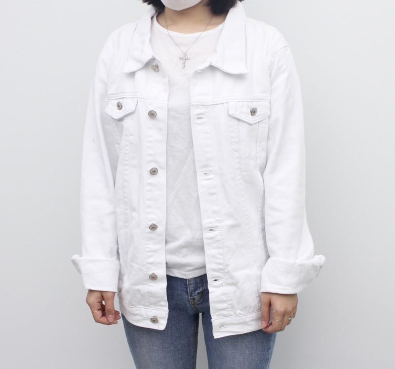(완사입/파샬) 봄 화이트 데님 자켓/ 72장/5000원
