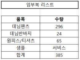(완사입) 임부복 정리 / 총 385장 / 완사 2500원 / 유선문의바람
