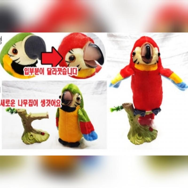 4가지 말하는앵무새 어린이날선물 추천 장난감 작동완구 동물인형 녹음인형