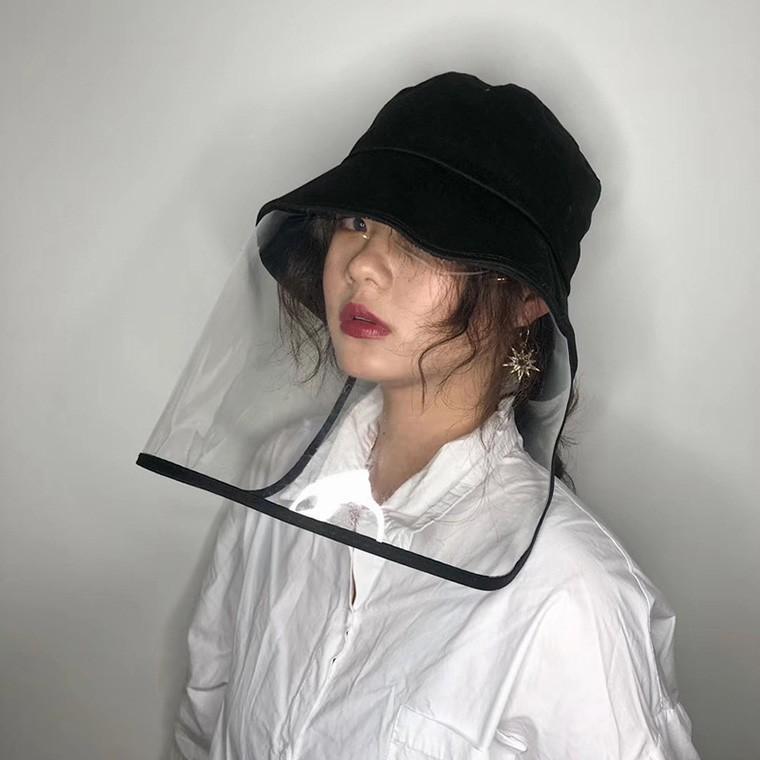 코로나 방지 비말 차단 방역 투명 얼굴가리개 가림막 성인 유아 아동 버킷햇 벙거지 모자