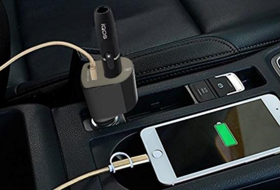 아이코스 충전기 2a 휴대폰 충전기능 ( 차량용)