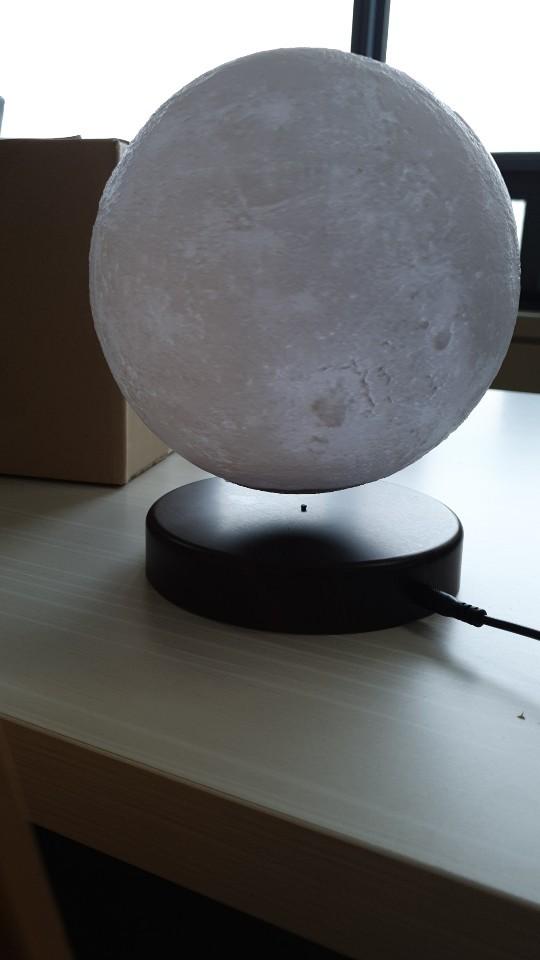 자기부상 달 지구본 조명등