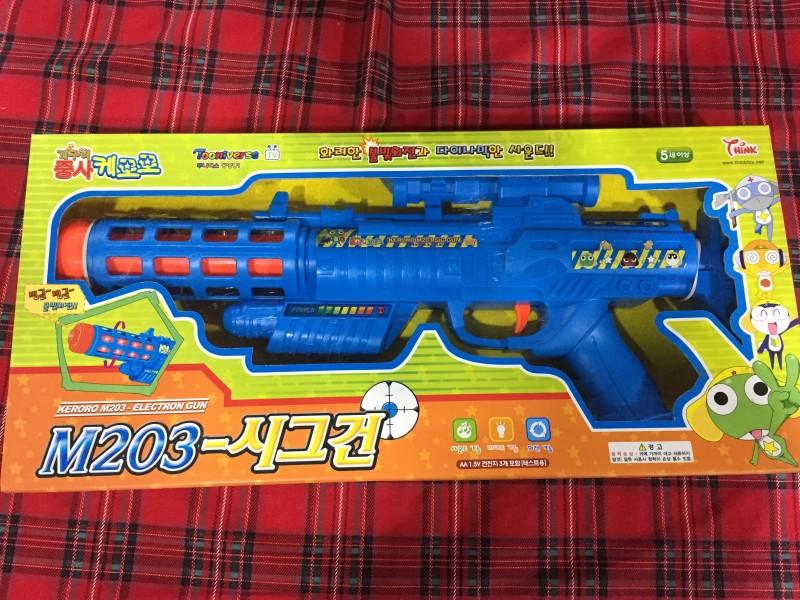 M-203 시그건 케로로중사 전자총 완구 장난감