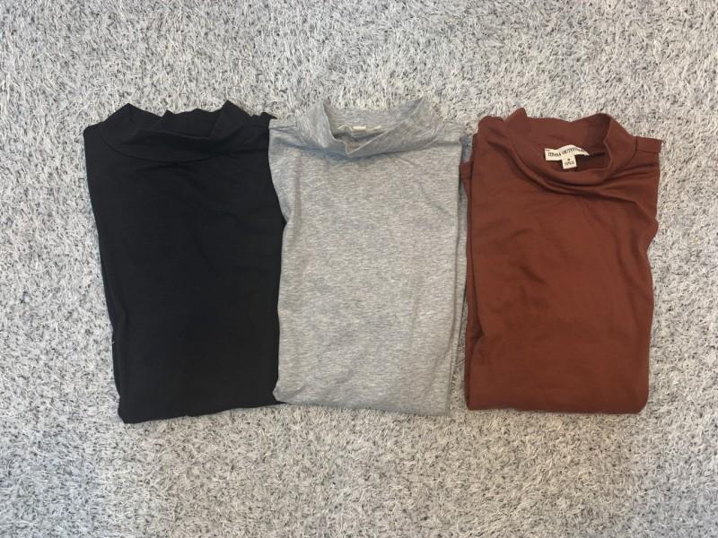 싱글 스판속티셔츠-3컬러