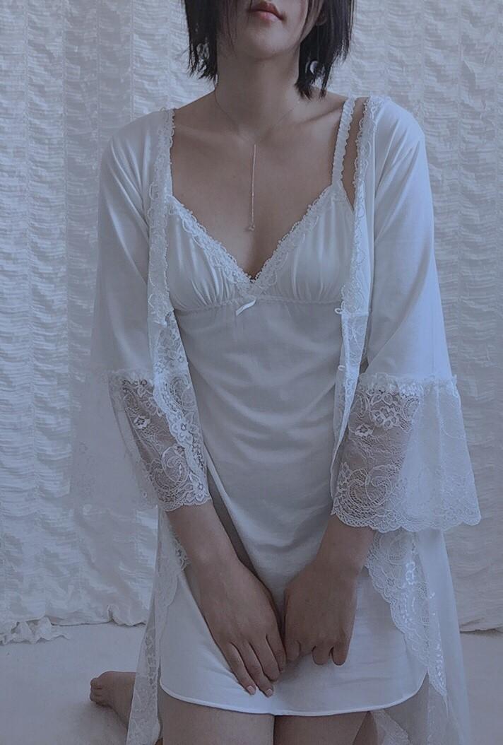 슬립가운세트잠옷 로브원피스파자마