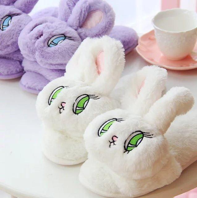 귀여운 토끼 실내화