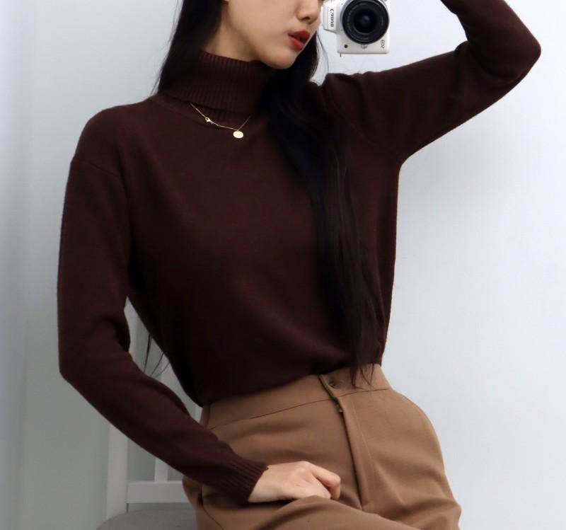 (완사입/파샬) 포근포근 목폴라 니트 3컬러 / 30장 / 3500