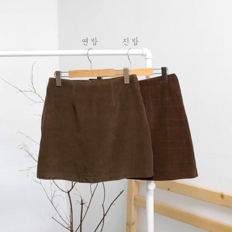 [완사입/파샬] 마롱 체크SK - 2컬러 20장 1500원