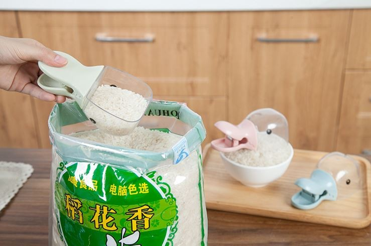귀여운 오리 쌀 주걱