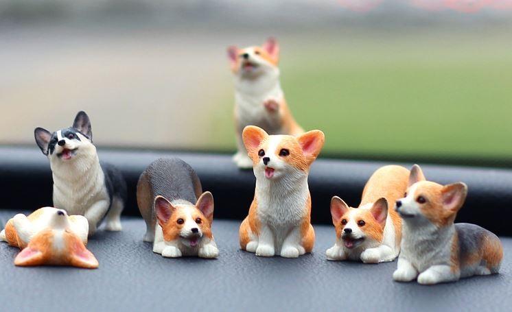 귀여운 강아지 차량용 악세사리