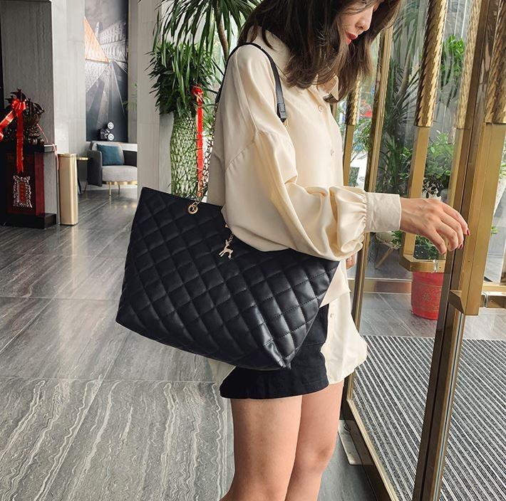 여성용 퀼팅 체인 가방