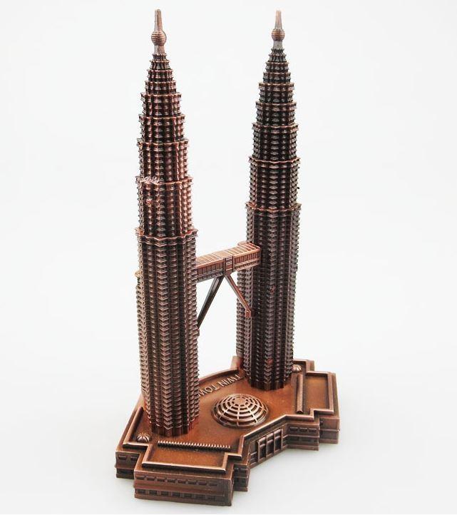 트윈타워 금속 공예품