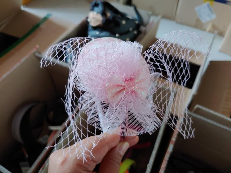 핑크 모자 머리띠