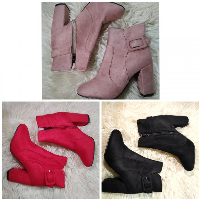 SARA 앵클부츠 18켤레 판매합니다.완사진행(레드, 핑크, 블랙)