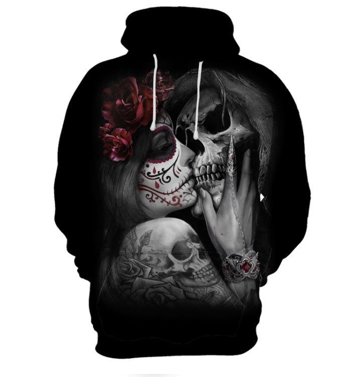 크로스오버 3D 맨투맨 후드 티셔츠