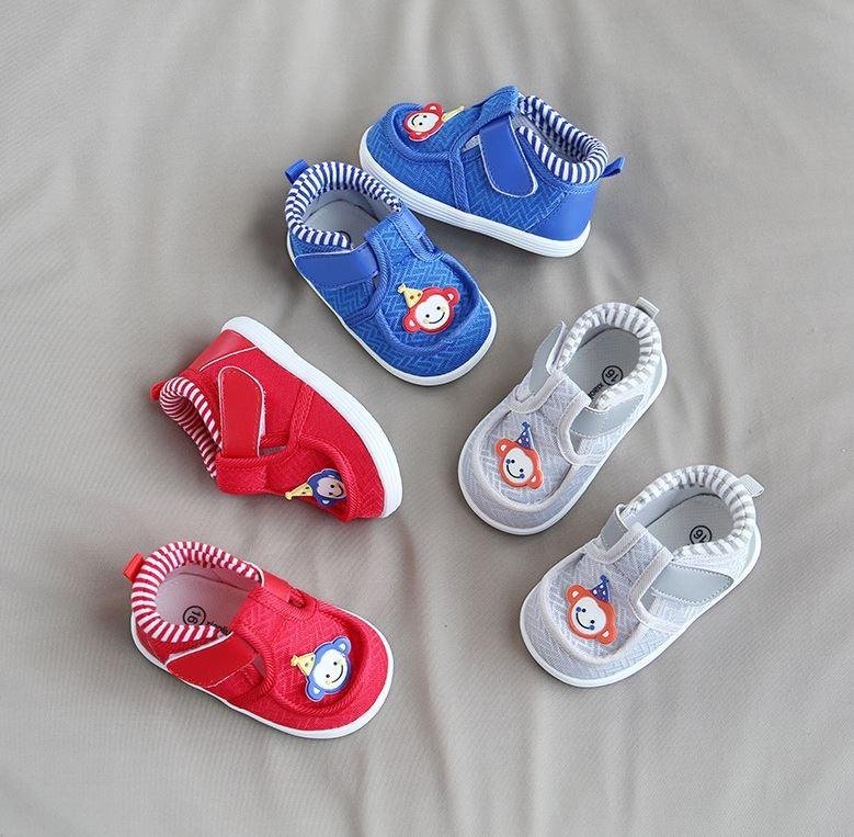 아기용 벨크로 에어메쉬 신발
