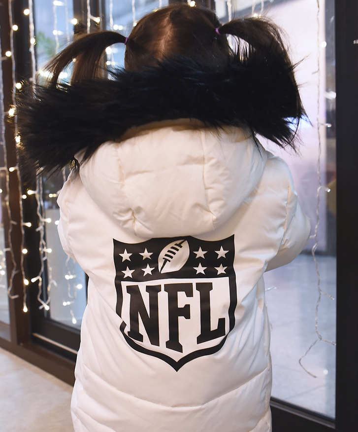 NFL 키즈 다운 경량 아동후드 패딩