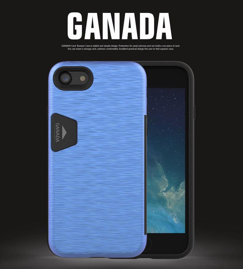 [재고정리]가나다 범퍼 휴대폰 케이스(카드수납 기능)