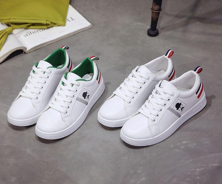 여성용 캐쥬얼 스티커즈 신발