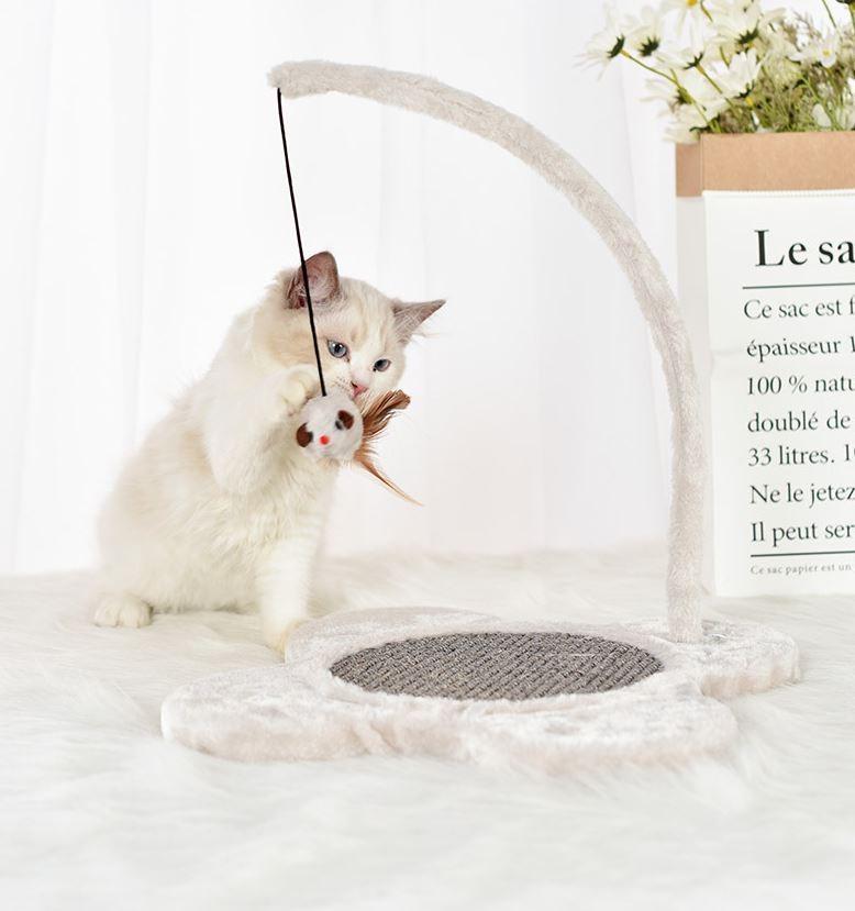 이태리 양탄자 고양이 원목 장난감
