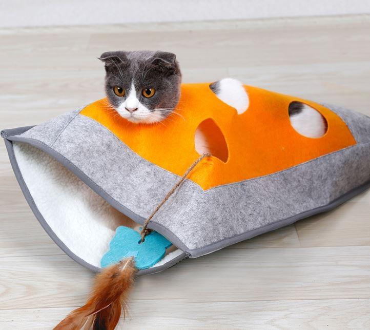 고양이 숨바꼭질 침낭