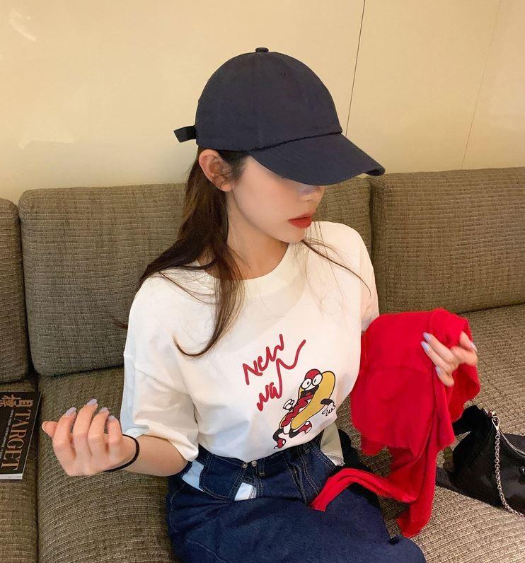 여성용 반팔 티셔츠