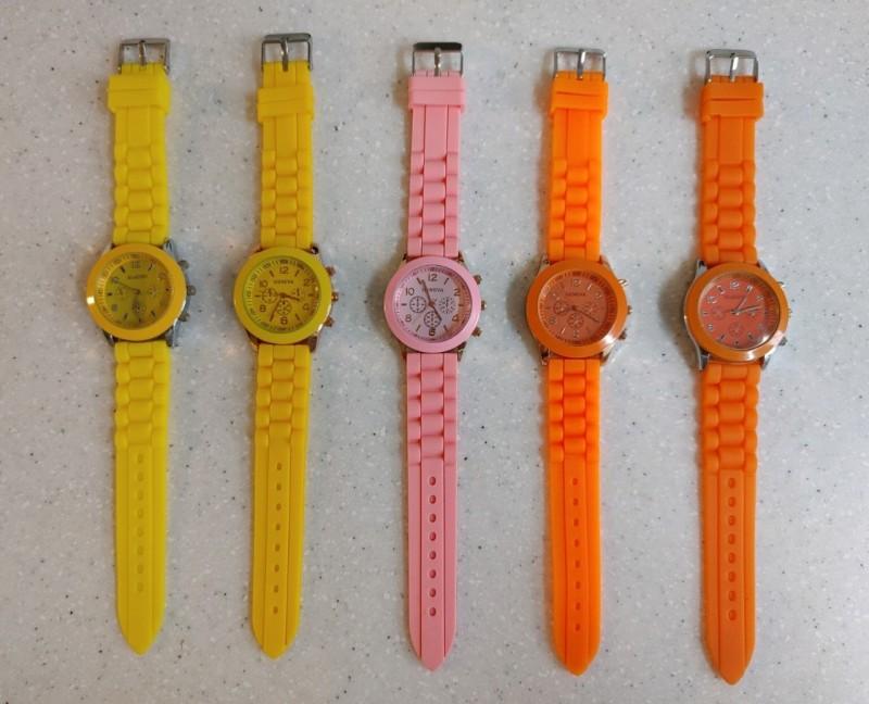 여성 실리콘 손목시계 1000원