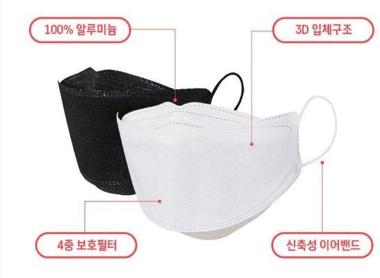 최저가판매 100%국내생산 kf94 4중구조 초정전필터 마스크