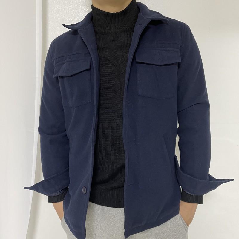 (새상품)네이비(남색)남성 숏 모직코트 남자자켓 봄코트 봄자켓 M