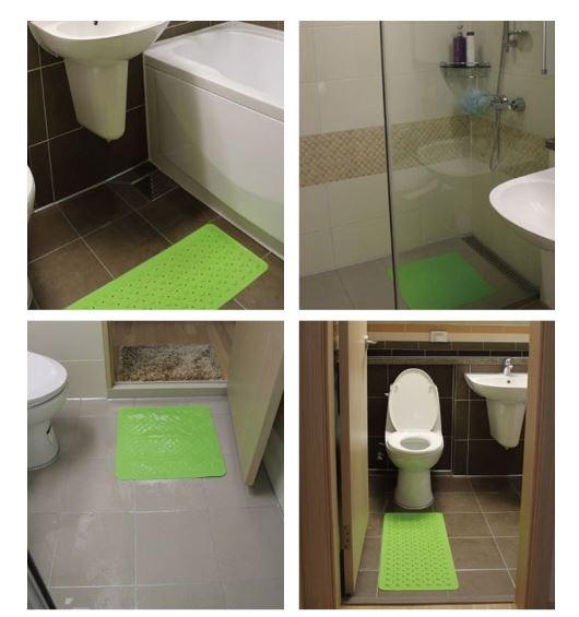 (원가이하처분) 욕실 미끄럼방지매트 천연고무욕실매트 사은품 판촉물 추천