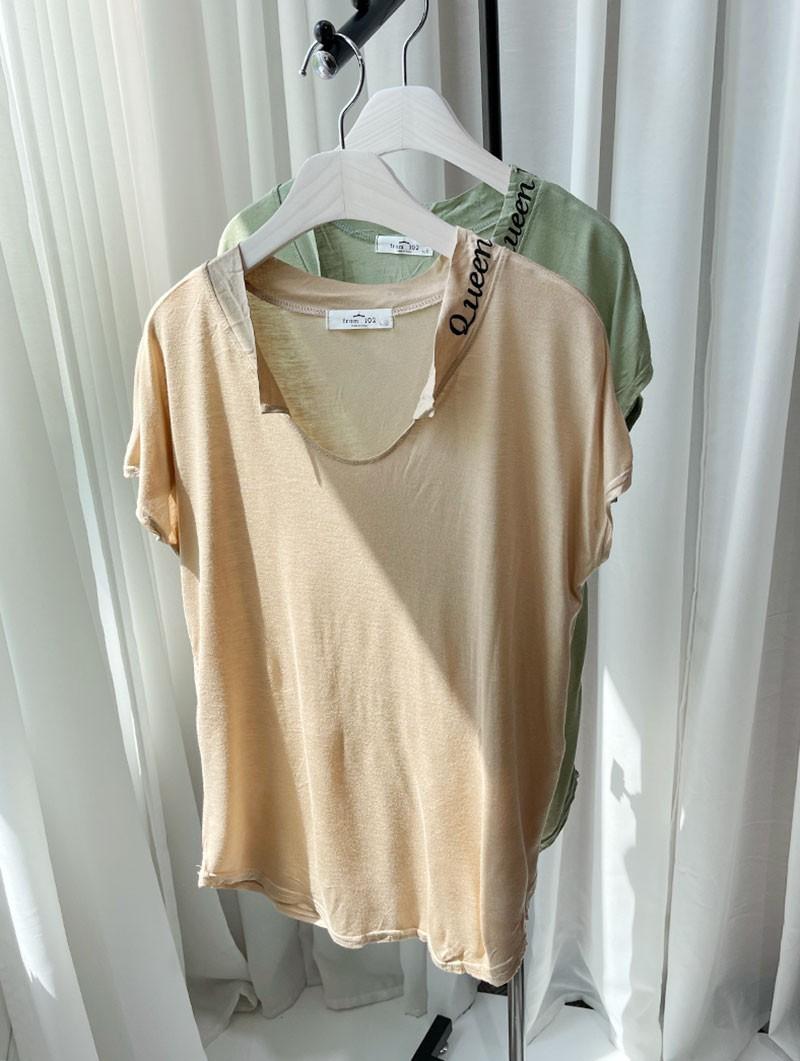 (완사입/파샬) 퀸 카라 티셔츠/40장/2000